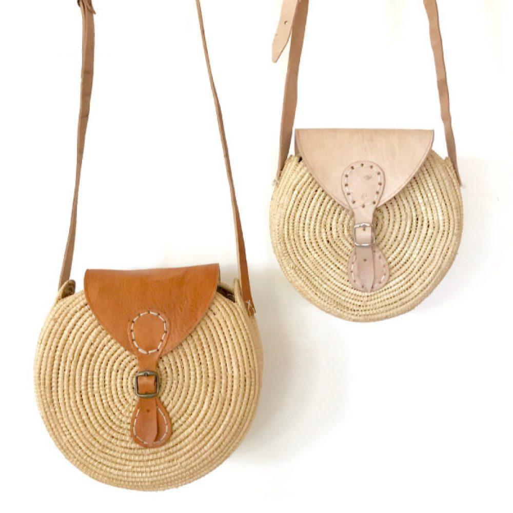 sac rond, sac raphia, sac boheme, sac de fille, sac tendance, sac cuir, sac hippie chic, sac été