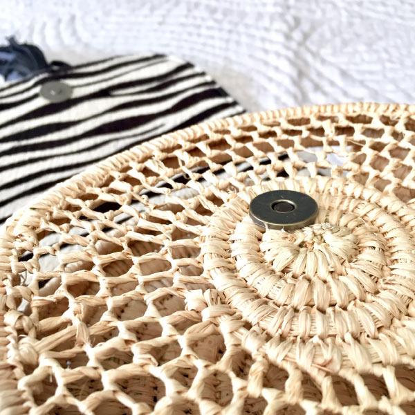 sac à main daim raphia zebre, sac cuir d'été, sac fille, sac hand-made morocco maroc- sac bouton pression, sac raphia dentelle - DANDY BELDI